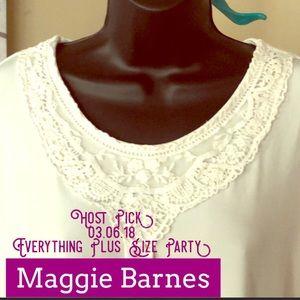 💕 Maggie Barnes, 1X, Off-White Tunic